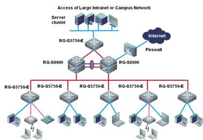 Sơ đồ cấu trúc mạng điển hình của trường